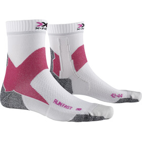 X-Socks Run Fast Skarpetki, arctic white/flamingo pink